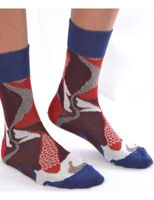 Chaussettes Poisson rouges Berthe aux grands pieds