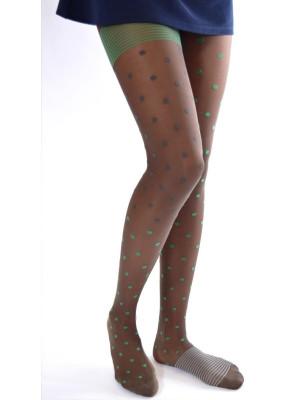 Collant asymétrique Berthe aux grands pieds pois vert