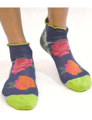Socquettes berthe aux grands pieds chics à fleurs