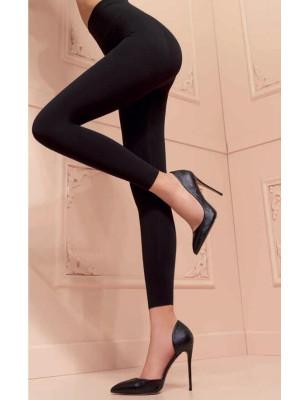 collant opaque sans pieds noir