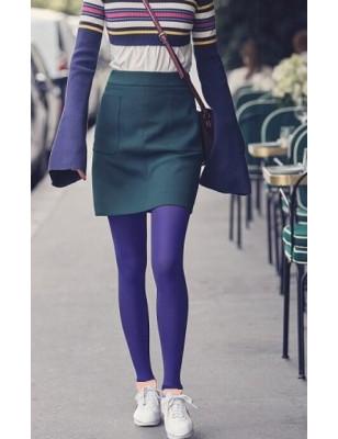 Collant opaque sans pieds Bleu indigo