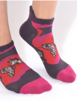 Socquette Berthe aux grands pieds coton bouclette PApillons
