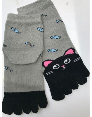 chaussettes 5 doigts Chats poissons