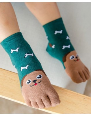 Chaussettes 5 doigts chiens os