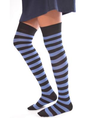 JAmbières rayures bi colores Bleues noires