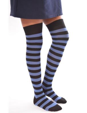 Jambiéres fantaisie coton à rayures sympas bleues noires
