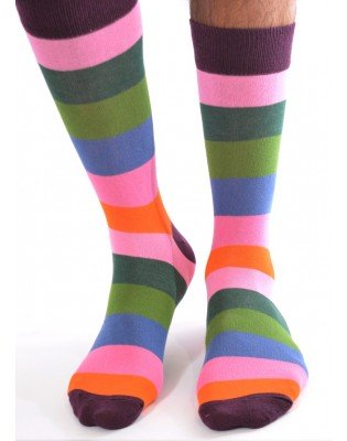 Chaussettes multi rayures Fantaisie