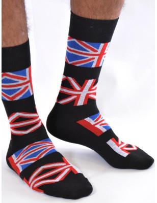 chaussettes coton union jack