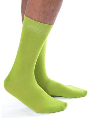 chaussettes vertes acides unie Homme