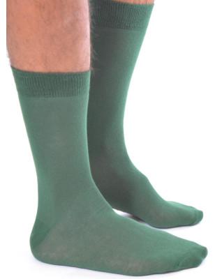 Chaussettes vert chic en coton homme