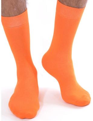 Chaussettes Coton orange Homme