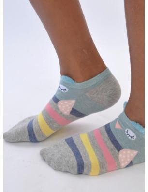 chaussettes chouettes sympas multi rayures