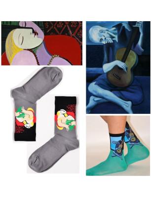 Duo de chaussettes oeuvres de Picasso