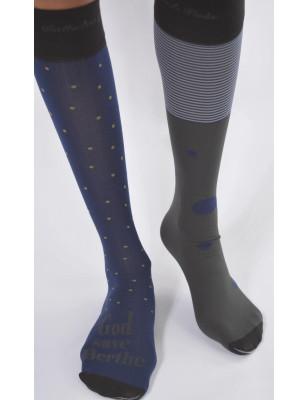 Chaussettes tendance Berthe aux grands pieds opaque asymétrique