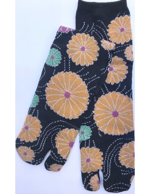 Chaussettes Japonaises à fleurs psychédéliques