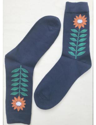 Lot de chaussettes fleurs contemporaines