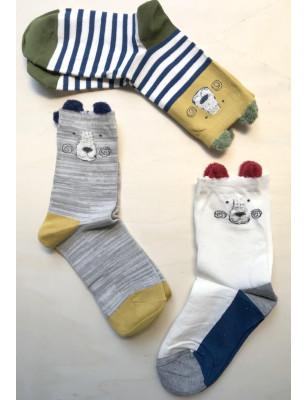 Coffret de chaussettes 3 ours