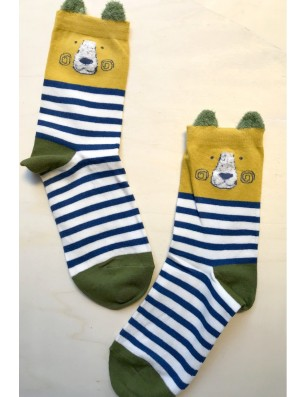 Chaussettes à rayures ourses