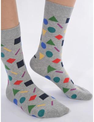 Chaussettes MArine délire géométrique