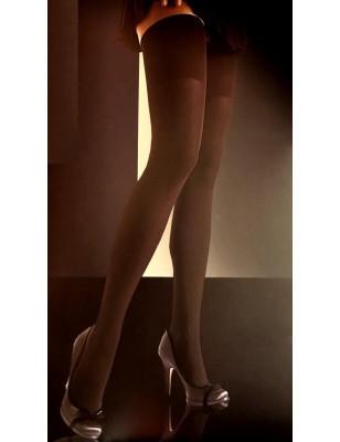 Bas opaque sans couture noir