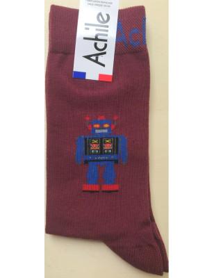 Chaussettes Achile homme robot rigolot