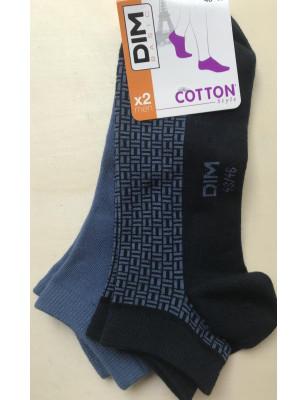 socquette dim basic coton style noir