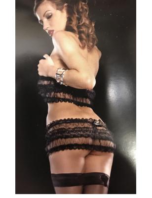 Ensemble lingerie dentelle fendue xo lingerie