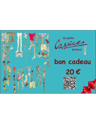 carte cadeaux Boutique Caprices 20 euros