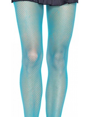 collant resille turquoise fluo
