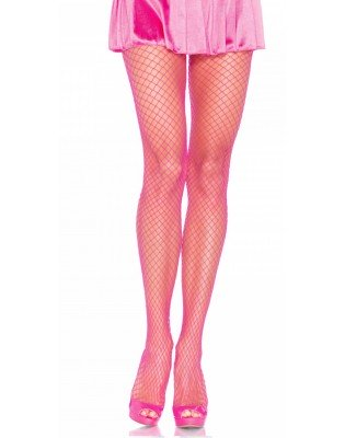 Collant Resille rose large maille lycra