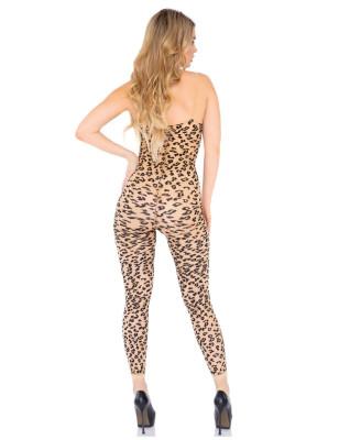 Combainaison effet tatouage leopard