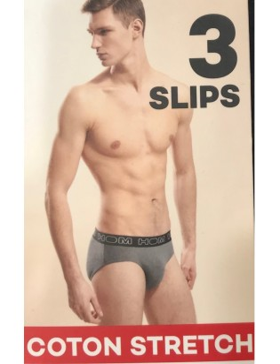 PAck de 3 Slips coton hom