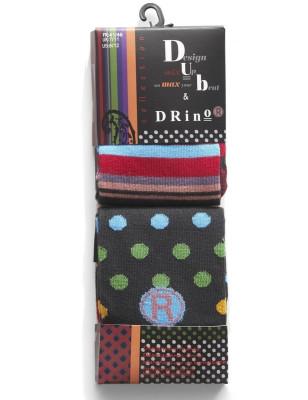 Duo de Chaussettes Dub et Drino tendance Pois et rayures