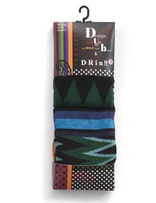 Duo de chaussettes Homme Dub et Drino Sympa striures noires et bleues