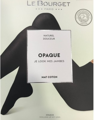 Collant Opaque Coton bio Noir Le Bourget