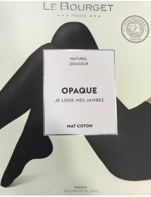 Collant Opaque Coton bio Noir Le Bourget