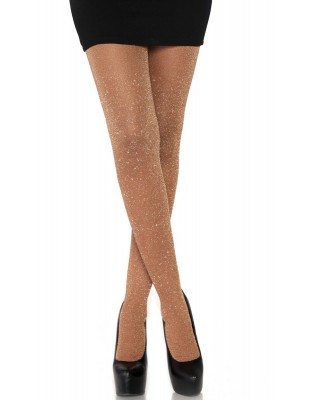 collant lurex pailleté rose Leg Avenue
