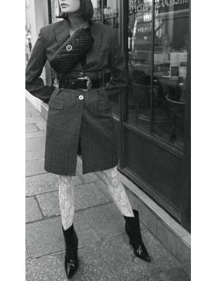 Collant noir dentelle Moderne  Emilio cavallini
