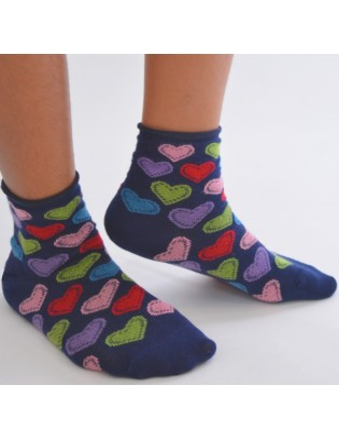 Chaussettes à coeurs ludiques
