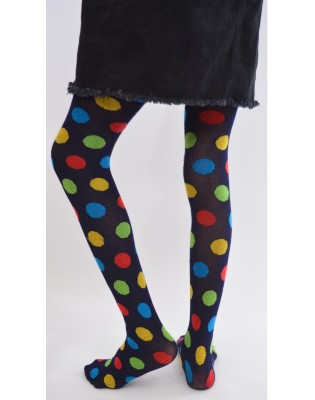collant chaud à pois rigolo enfant