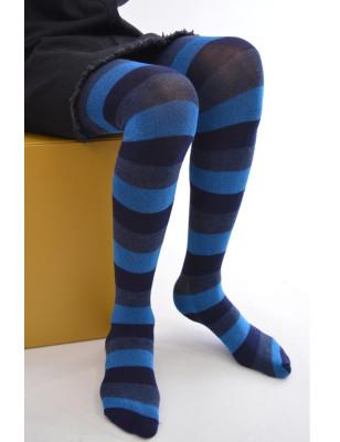 Collant rayures bleues enfant San Giacomo