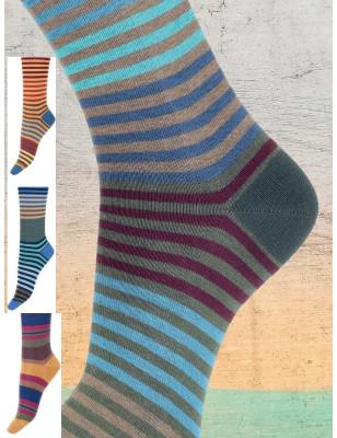 chaussettes cronert rayures fantaisie