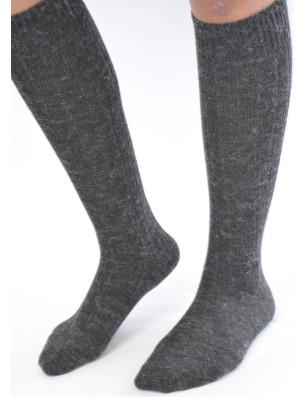 Chaussettes hautes laine alpaga
