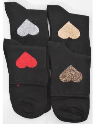Chaussettes coton  coeurs...