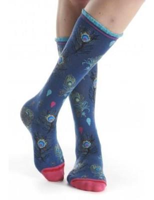 Chaussettes hiver fil de jour saphir angora