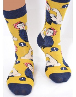Chaussettes we can do it jaune