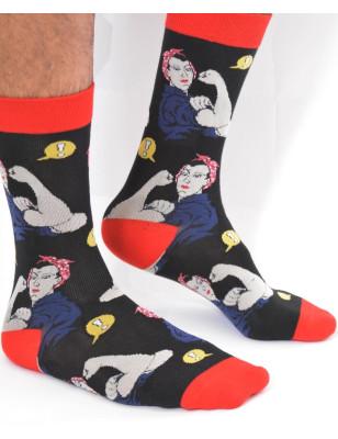 chaussettes homme rosie la riveteuse
