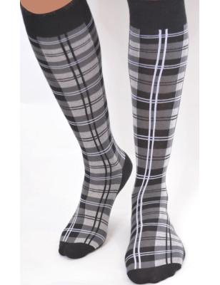 Chaussettes ecossais gris macahel