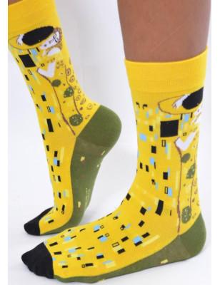 chaussettes coton femme Le baiser de Klimt