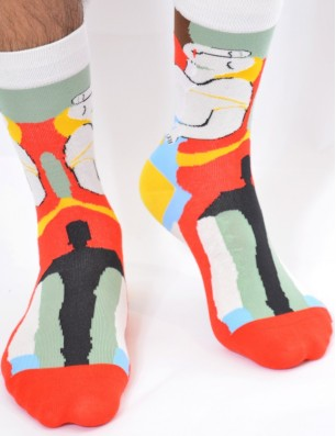 chaussettes picasso tendance